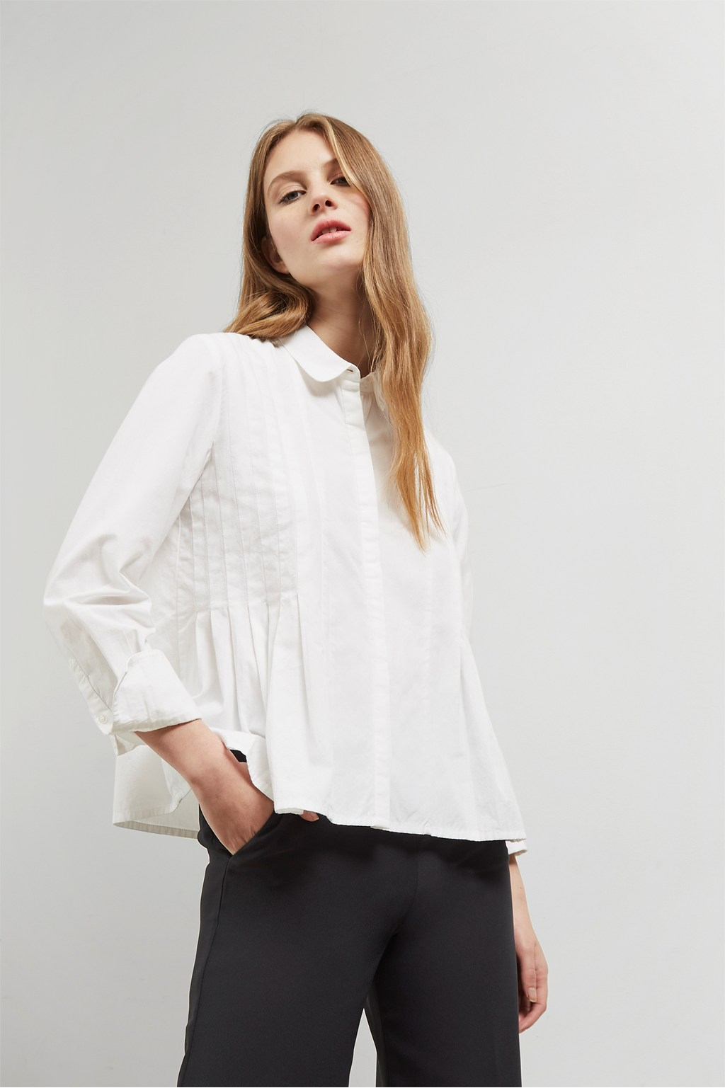 Simone Pleated Shirt