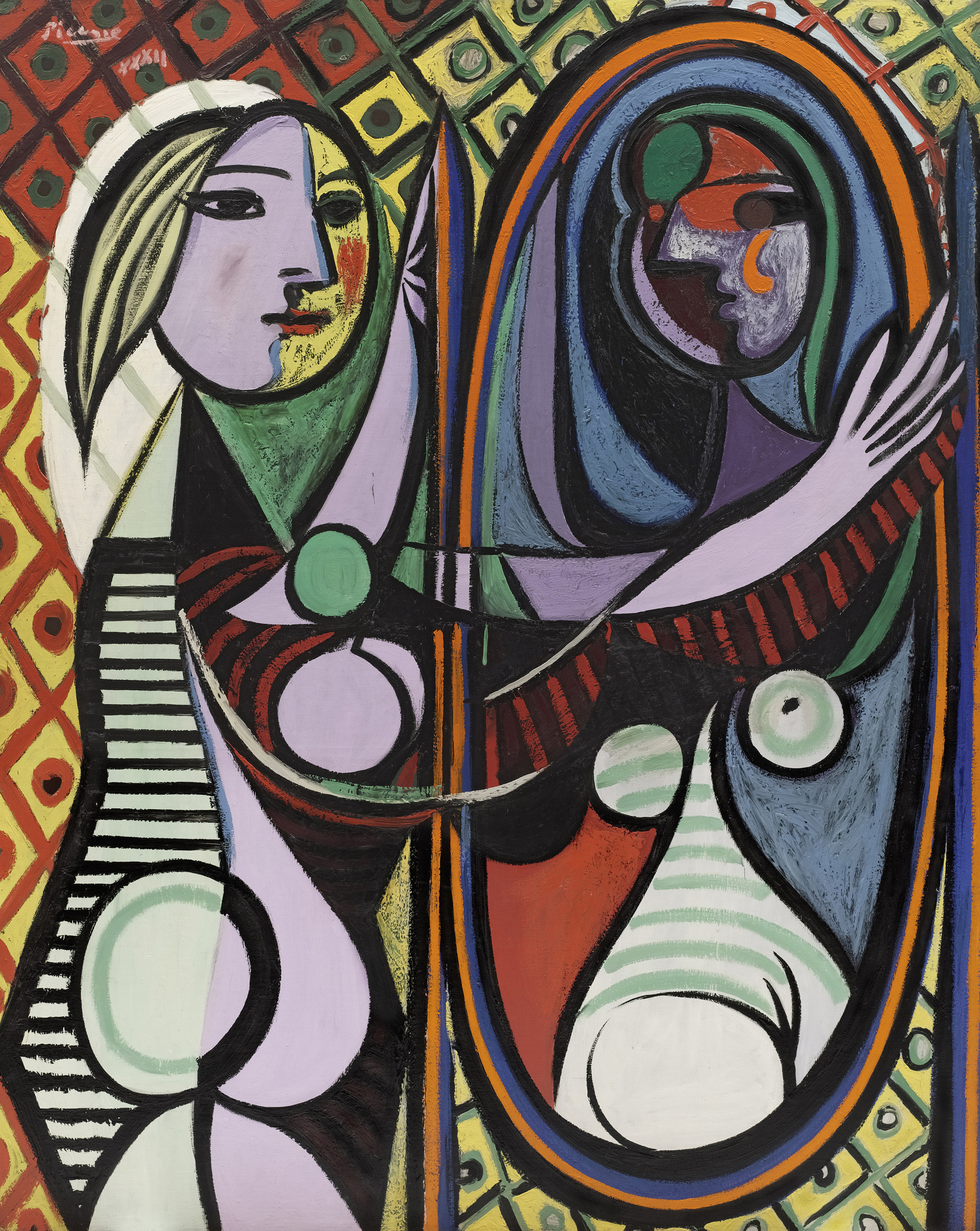 Girl Before a Mirror, Pablo Picasso 1932 - via the Museum of Modern Art, New York. Gift of Mrs. Simon Guggenheim in 1937  © Succession Picasso/DACS London, 2018