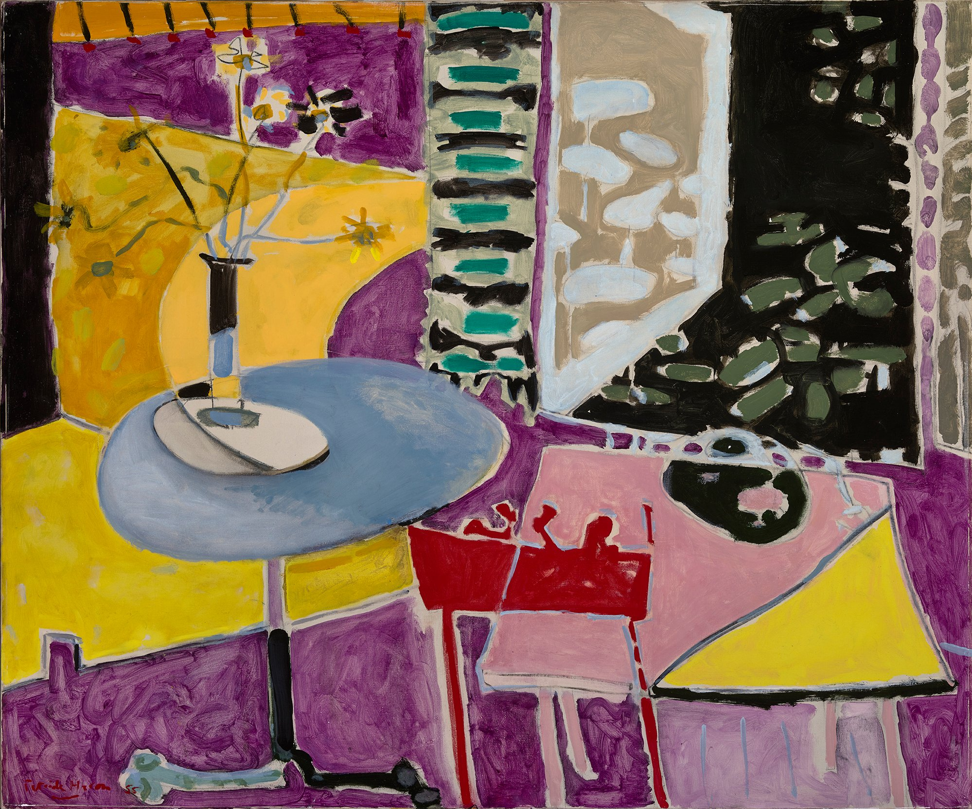 Patrick Heron, Interior with Garden Window, 1955