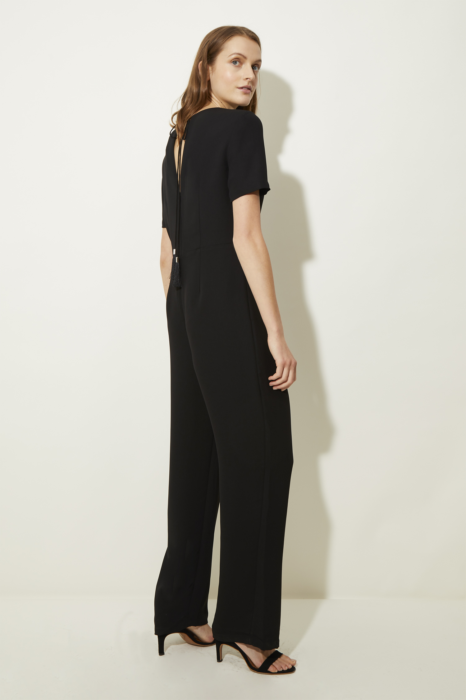 women's black jumpsuits