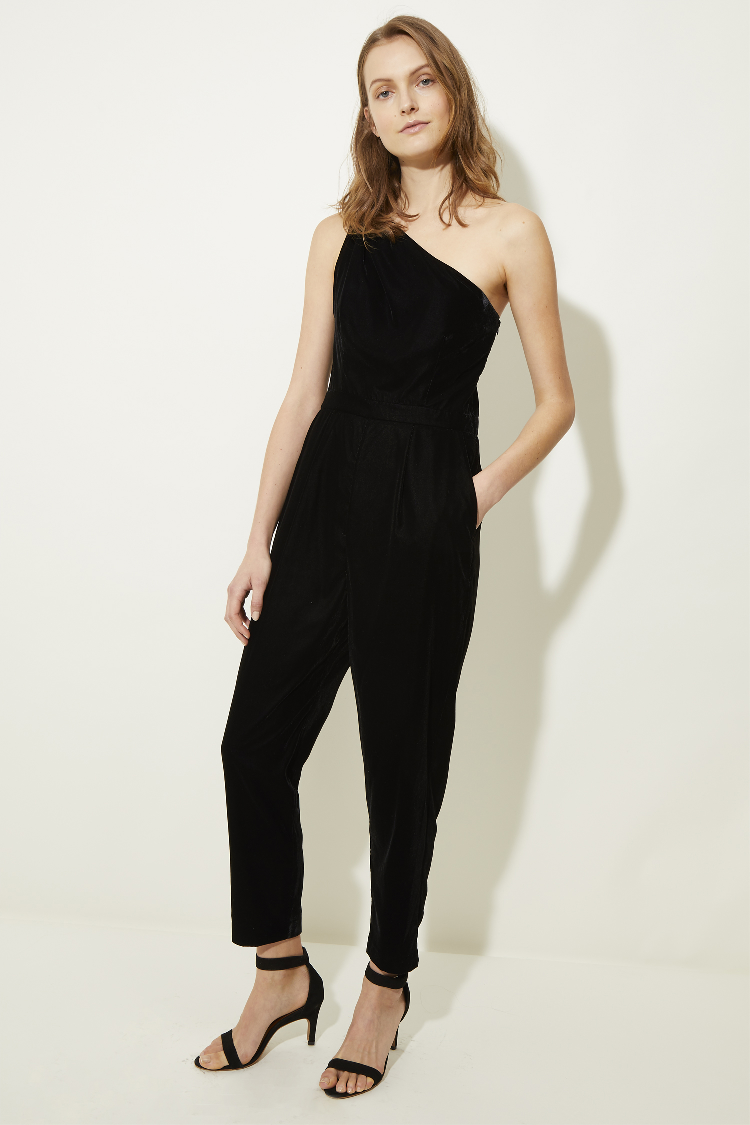 women's velvet jumpsuits