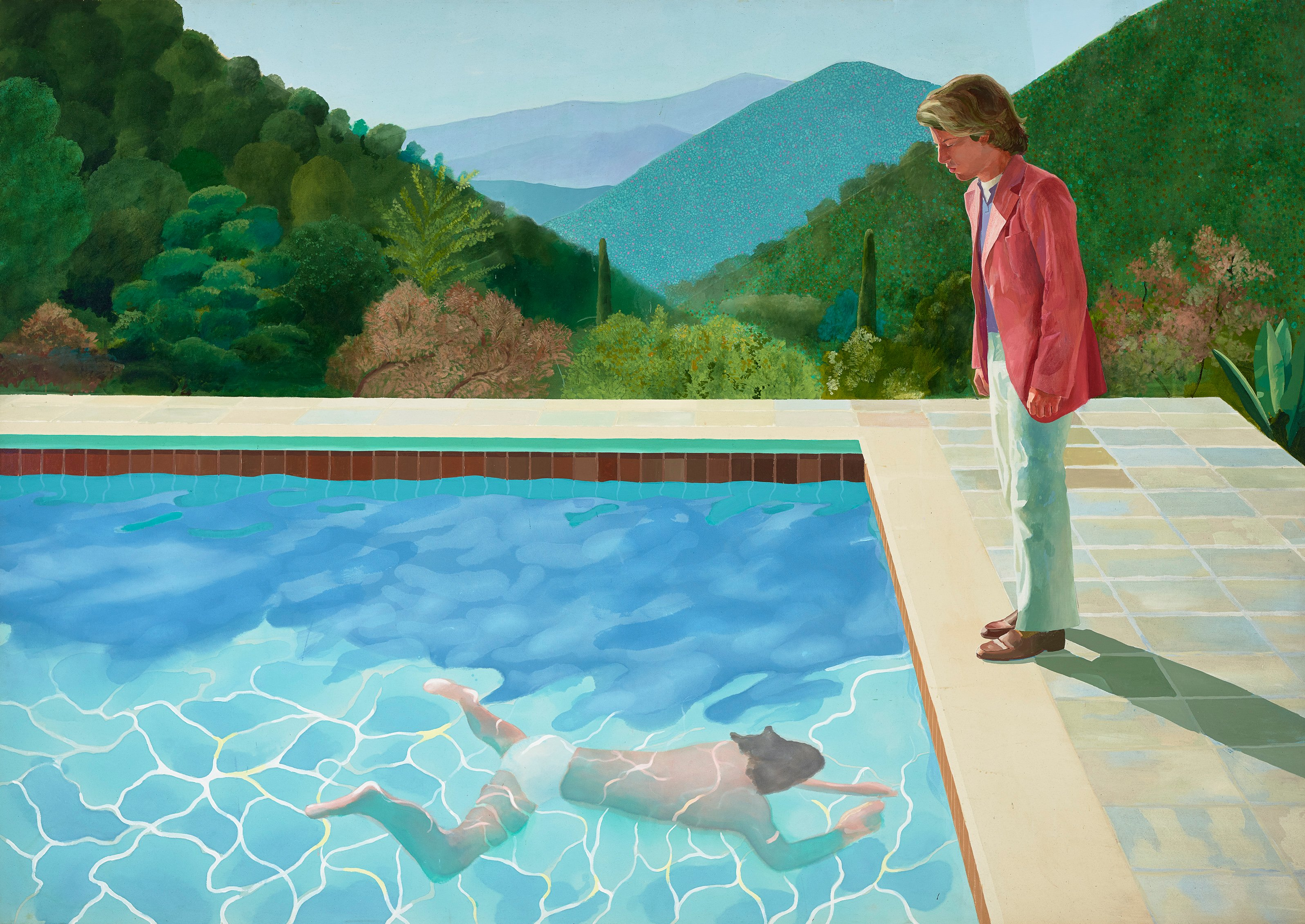 David Hockney: Portrait of an Artist (Pool with Two Figures), 1972