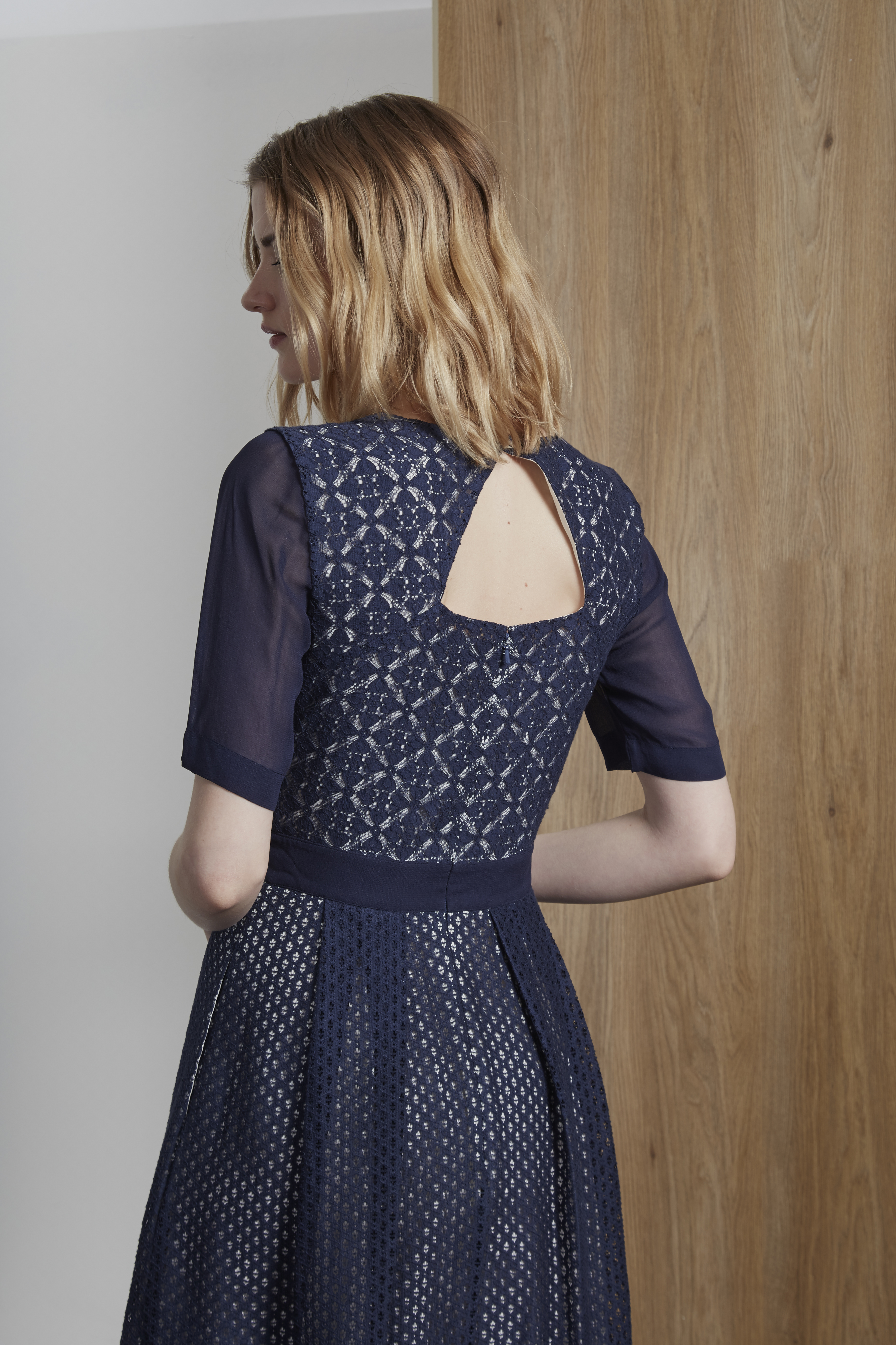 Wedding Guest Outfit Inspiration - Lucia Lace Mix Open Back Dress