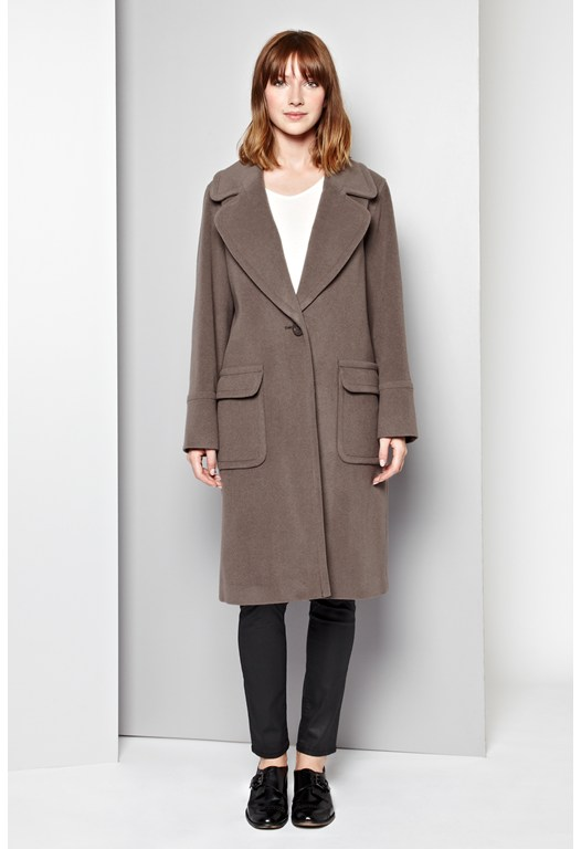 Manor Wool-Blend Coat