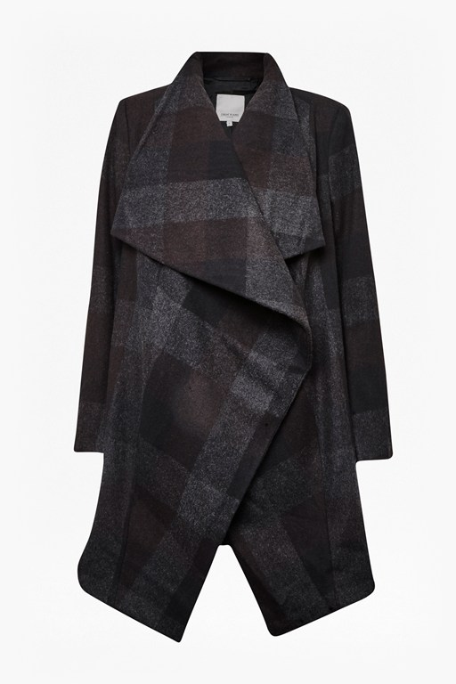 Complete the Look Celtic Waterfall Check Coat