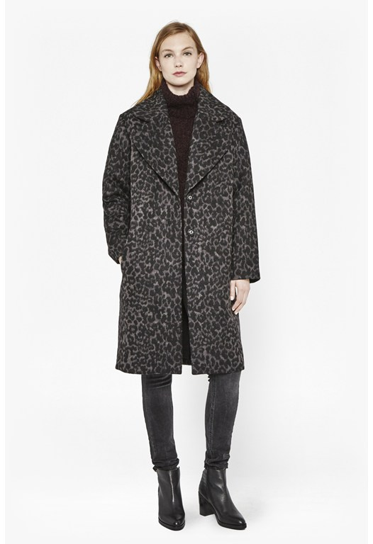 Winter Panther Wool Coat