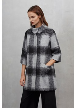 Lowery Check Bell Sleeves Swing Coat