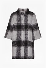 Looks Great With Lowery Check Bell Sleeves Swing Coat
