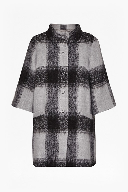 Complete the Look Lowery Check Bell Sleeves Swing Coat