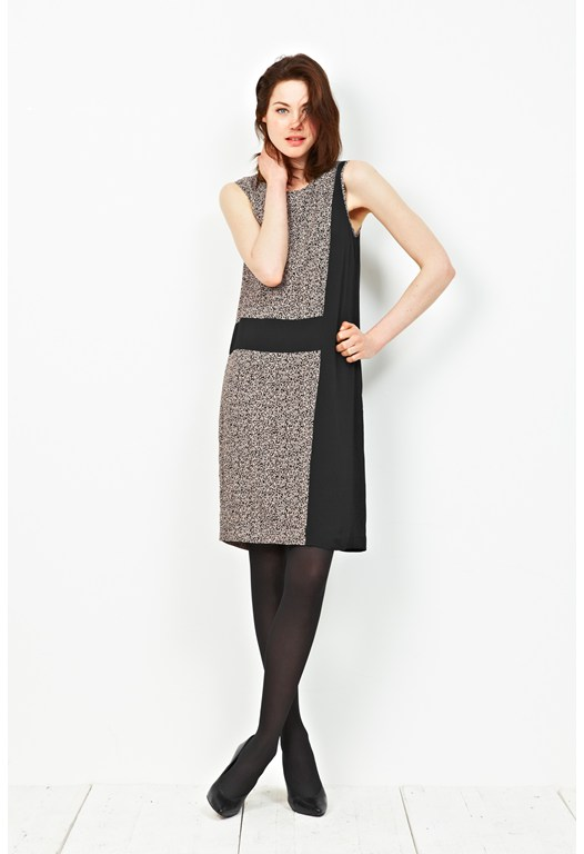 Dizzy Tweed Contrast Dress