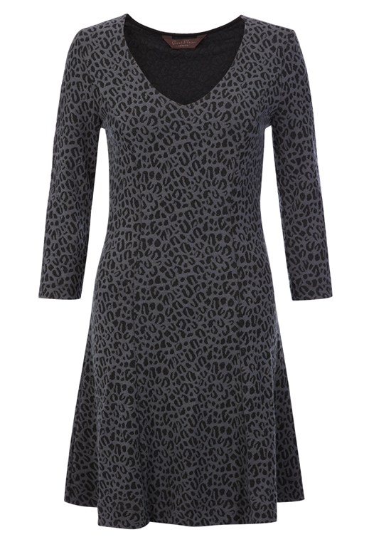 Leopard Love V-Neck Dress