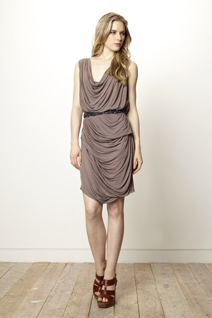 Dusty Draping Dress