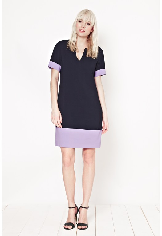 Harlow Crepe Contrast Dress