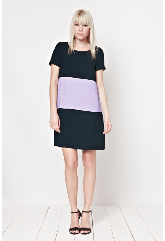 Harlow Crepe Shift Dress