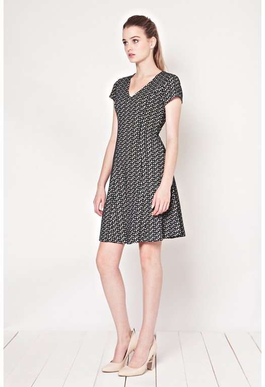 Jolly Jacquard Jersey Dress