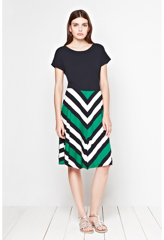 Jolly Roger Chevron Stripe Dress