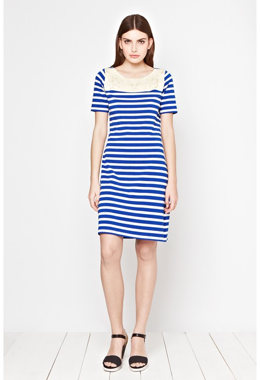 Lucy Stripe Jersey Dress