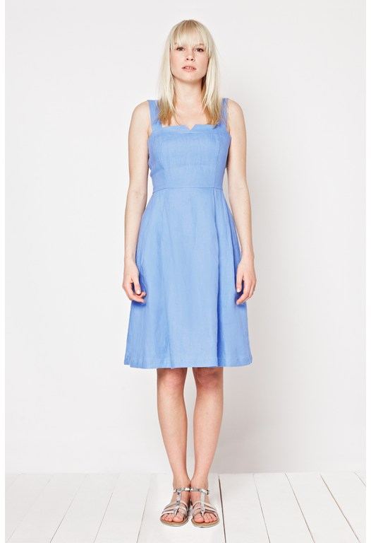 Seahouses Linen Strappy Dress