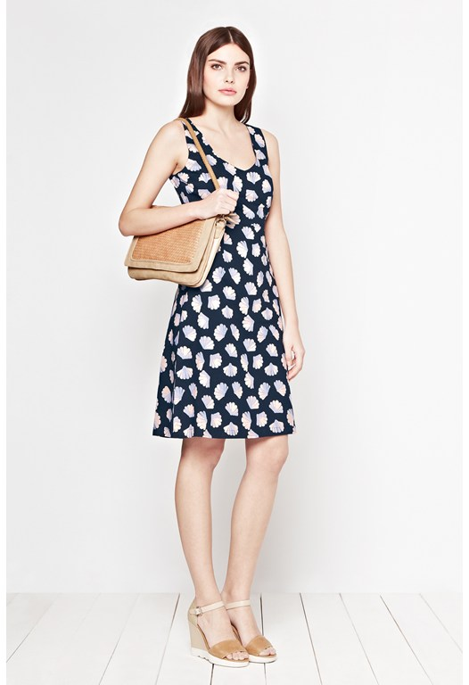 Shelly V-Neck Print Dress