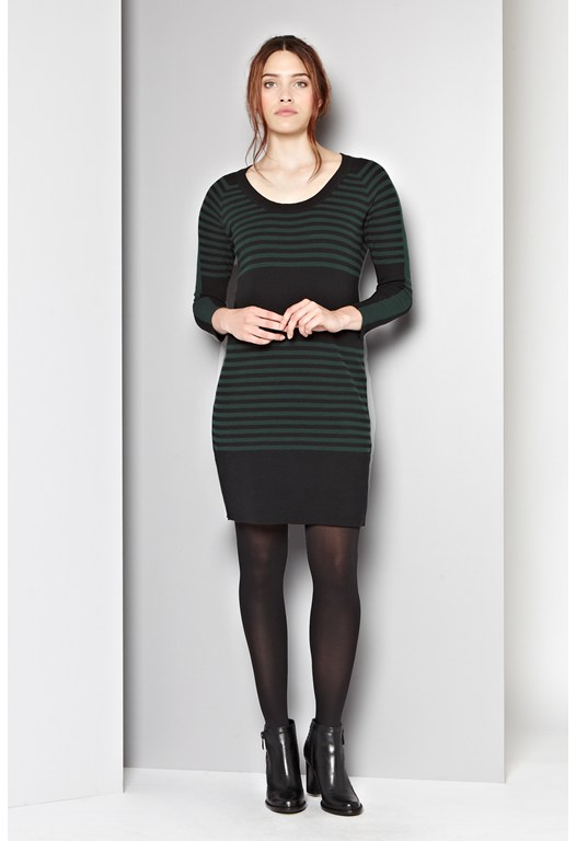 Sweden Striped Jumper Dress