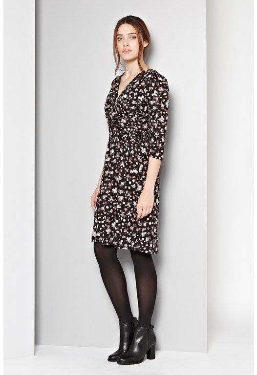 Winter Clover Wrap Dress