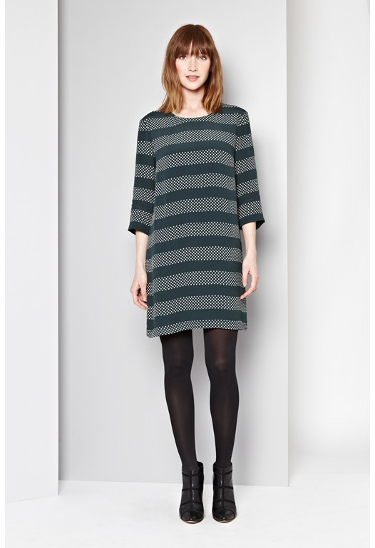 Breton Spot Stripe Dress