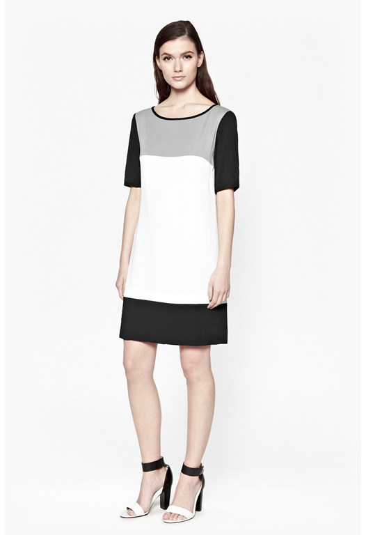 Night And Day Colour Block Dress