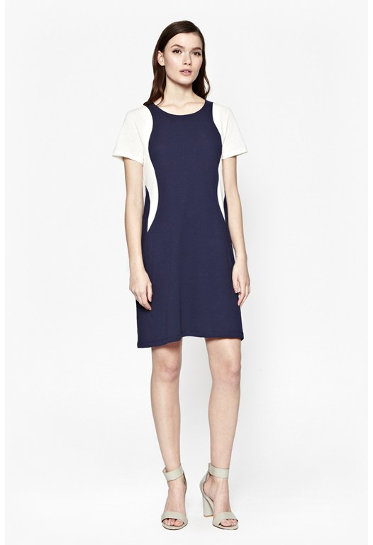 Cerys Cotton Panel Dress