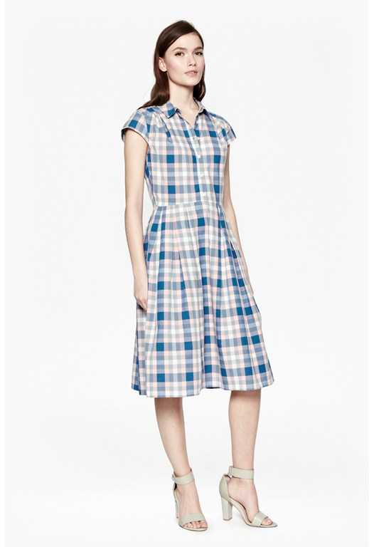 Falmouth Check Shirt Dress