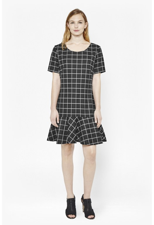 Herringbone Gingham Dress