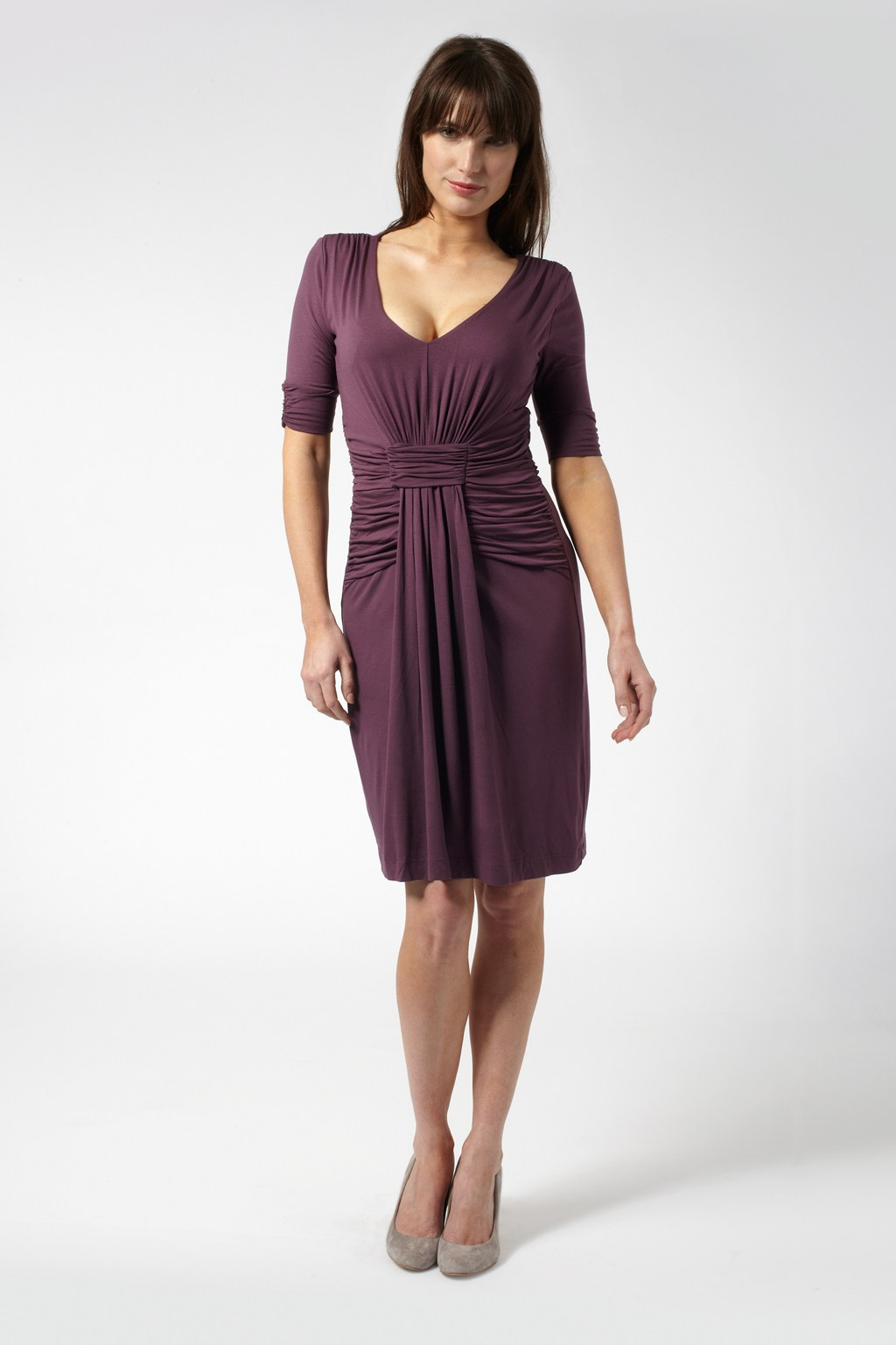 The most practical go-to dress for any discerning fashionista has to be the simple jersey dress. With stretch for comfort, but enough hold to smooth your curves, it's a great choice for day and night.