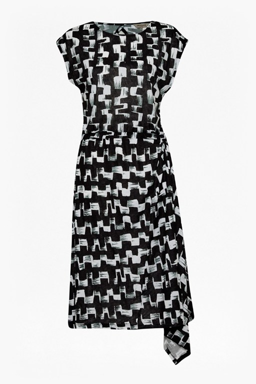 Complete the Look Cubist Wave Asymmetric Dress