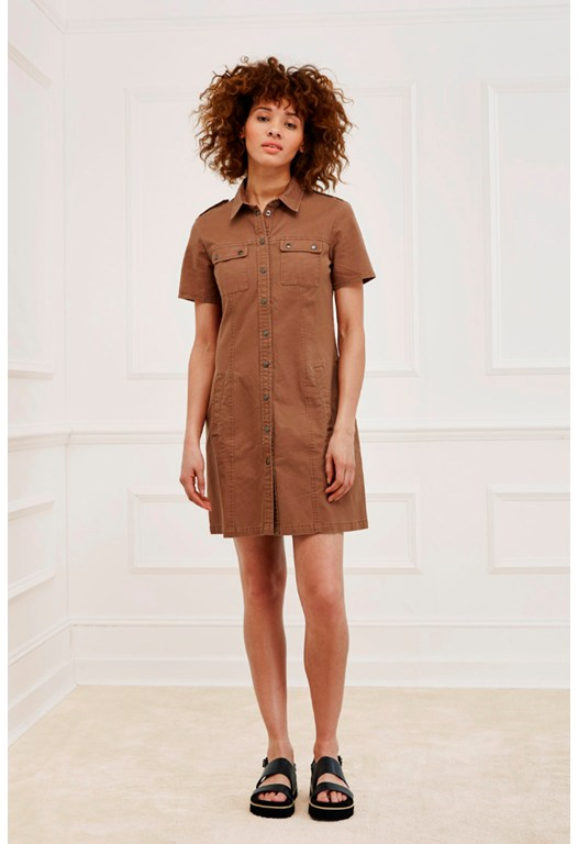 Safari Cotton Cargo Dress