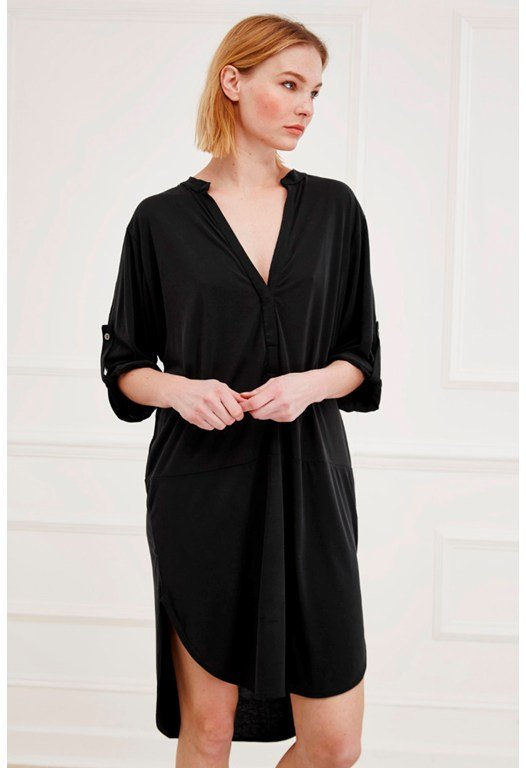 Coolio Cupro Shirt Dress