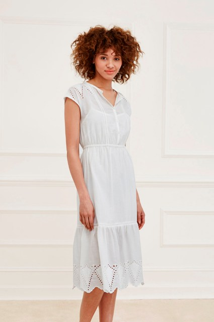 Virginia Lace Embroidered Midi Dress