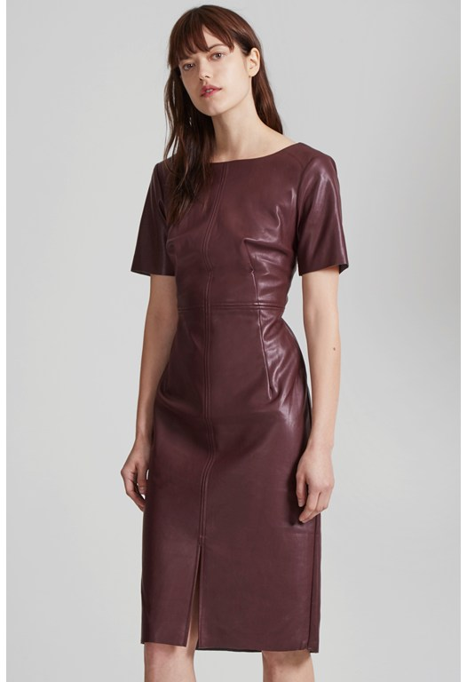 Chicago Top Stitch Faux Leather Dress