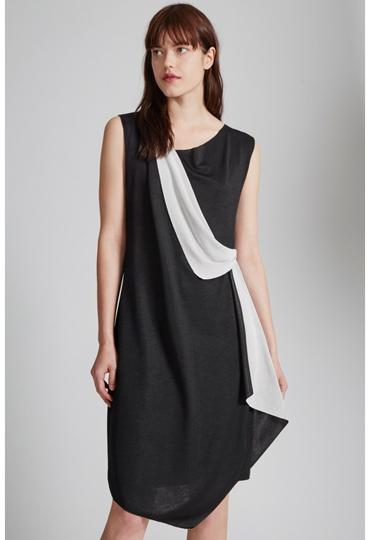 Reversible Draped Front Dress