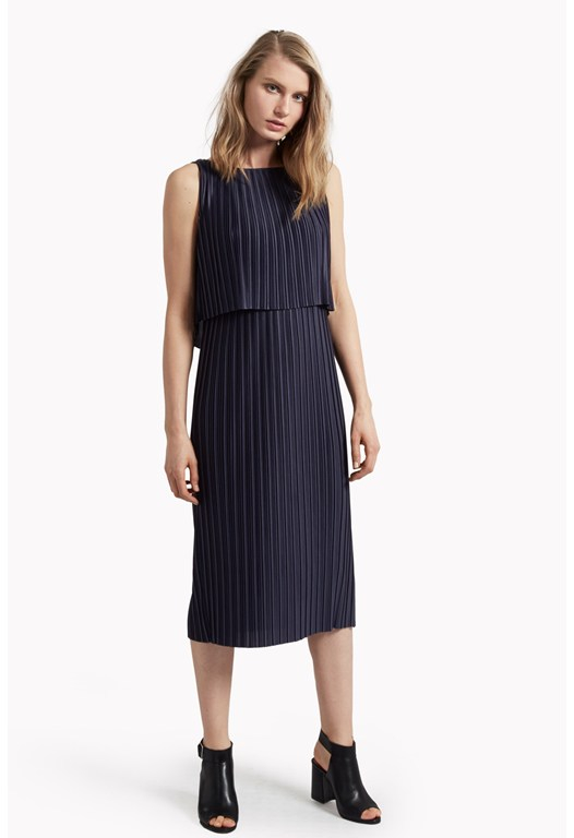 Narcissus Jersey Pleated Dress
