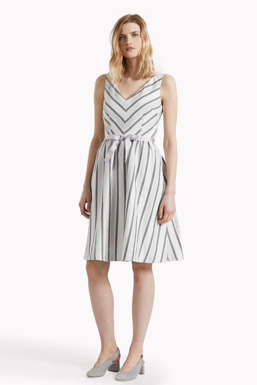 Sofia Stripe Flared Dress