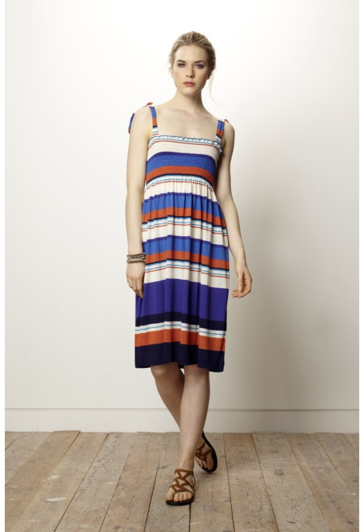 Cannes Stripe Bandeau Dress