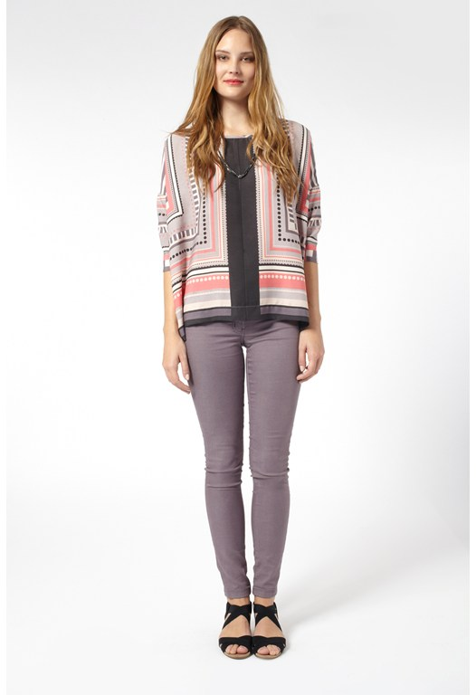 Geo Pop Stripes Top