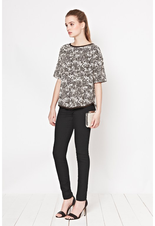 Caligari Print Boxy Top