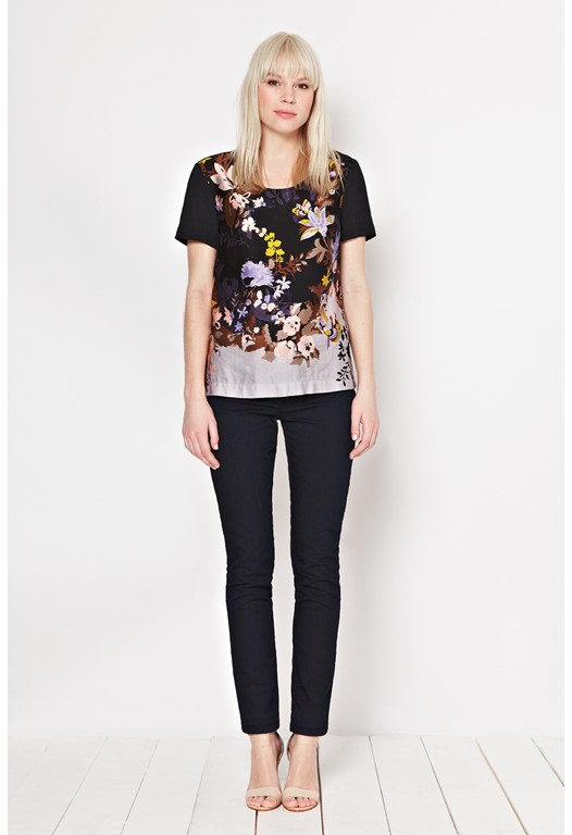Waterfall Garden Print Top