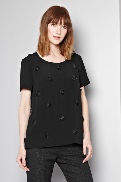 Chloe Flower Embellished Top