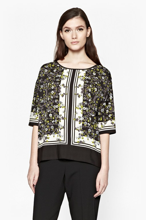 Complete the Look Window Box Printed Top