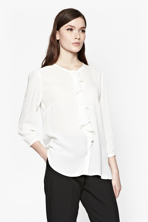Complete the Look Courtney Crepe Frill Shirt