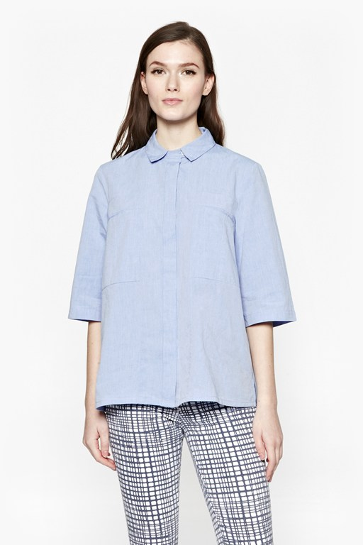 Complete the Look Capri Cotton Boxy Shirt