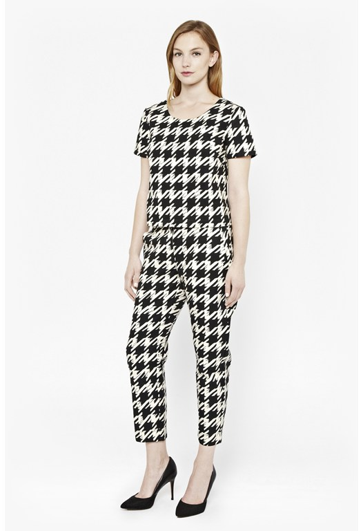 Pistol Houndstooth Cotton Top