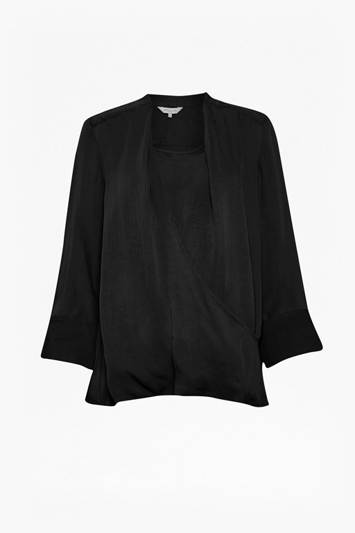 Complete the Look Cara Crepe Wrap Blouse