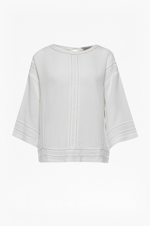 Complete the Look Siouxsie Crepe Punch Out Blouse